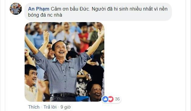 Việt Nam vô địch AFF Cup 2018, hàng ngàn người hâm mộ gửi lời tri ân đến bầu Đức  - Ảnh 6.