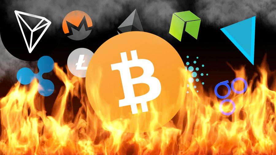 sự kiện kinh doanh nổi bật năm 2018 - burning 15457613275071437217929 - Những sự kiện kinh doanh nổi bật năm 2018: Chứng khoán lập đỉnh, tòa Landmark 81 khánh thành, bong bóng Bitcoin vỡ, đại chiến nhà Trung Nguyên