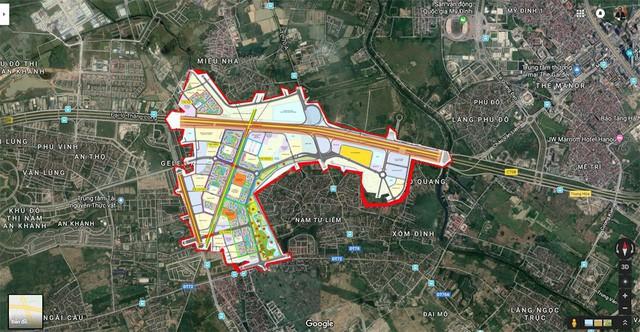 Soi vị trí chính xác đại đô thị VinCity Sportia của Tập đoàn Vingroup trên trục Đại lộ Thăng Long - Ảnh 2.