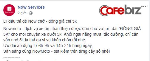 Now (Foody) chính thức mở dịch vụ xe ôm sang chảnh tại Hà Nội, tung ưu đãi áp đảo Go-Viet, chỉ 5.000 đồng/cuốc - Ảnh 2.