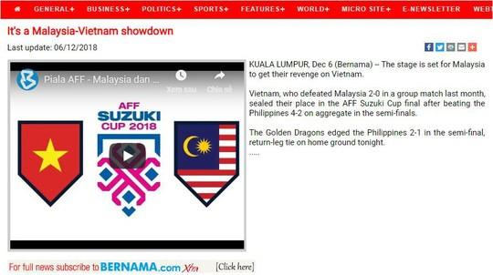 Báo Malaysia buông lời thách thức tuyển Việt Nam - Ảnh 1.