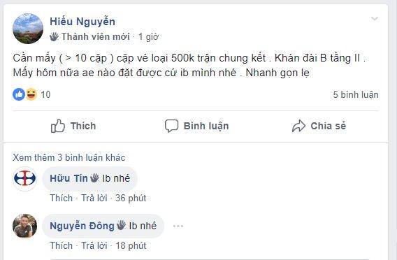 VFF chưa mở phân phối, chợ vé trận chung kết lượt về giữa Việt Nam và Malaysia đã nhộn nhịp - Ảnh 2.