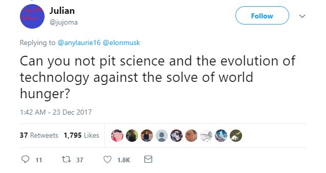 Một bà chị chỉ trích Elon Musk vì sao không dành tiền phóng tên lửa để đi từ thiện, ngay lập tức bị cư dân mạng lên án - Ảnh 3.