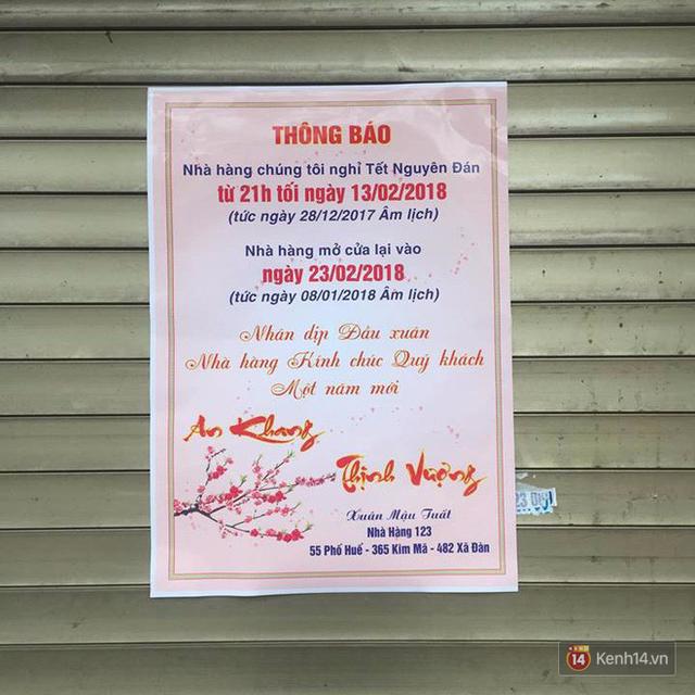 Hết Tết rồi mà vẫn còn nhiều quán xá nổi tiếng Hà Nội chưa mở cửa bán hàng trở lại - Ảnh 9.
