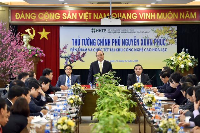 Thủ tướng: Đưa Khu công nghệ cao Hòa Lạc là nơi khởi nghiệp tốt nhất - Ảnh 1.