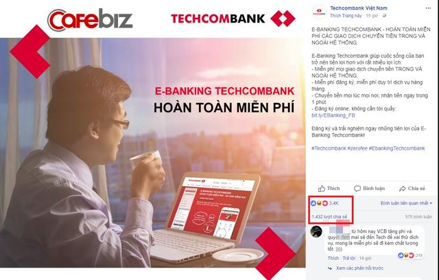 Cách PR cực thông minh của Techcombank: Trong khi ngân hàng người ta thu phí này phí kia, thì chúng tôi free tất tần tật! - Ảnh 1.