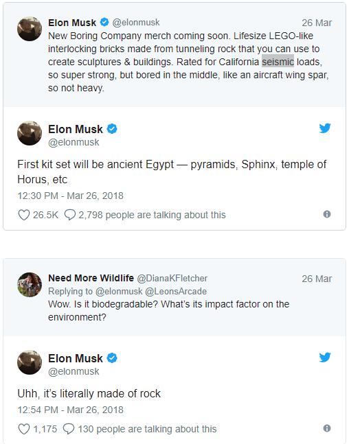 Elon Musk dùng đá đào được từ đường hầm của mình chế tạo gạch xây dựng, có thể tháo lắp như đồ chơi LEGO giúp giảm thời gian thi công - Ảnh 1.