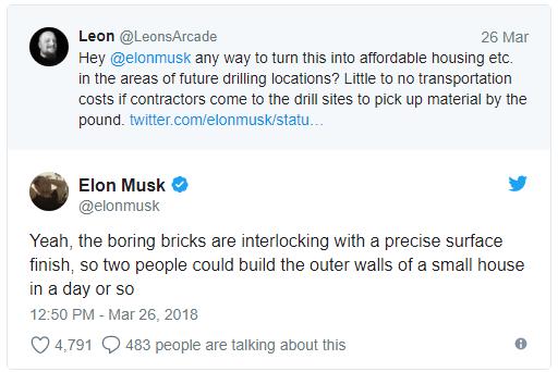 Elon Musk dùng đá đào được từ đường hầm của mình chế tạo gạch xây dựng, có thể tháo lắp như đồ chơi LEGO giúp giảm thời gian thi công - Ảnh 2.