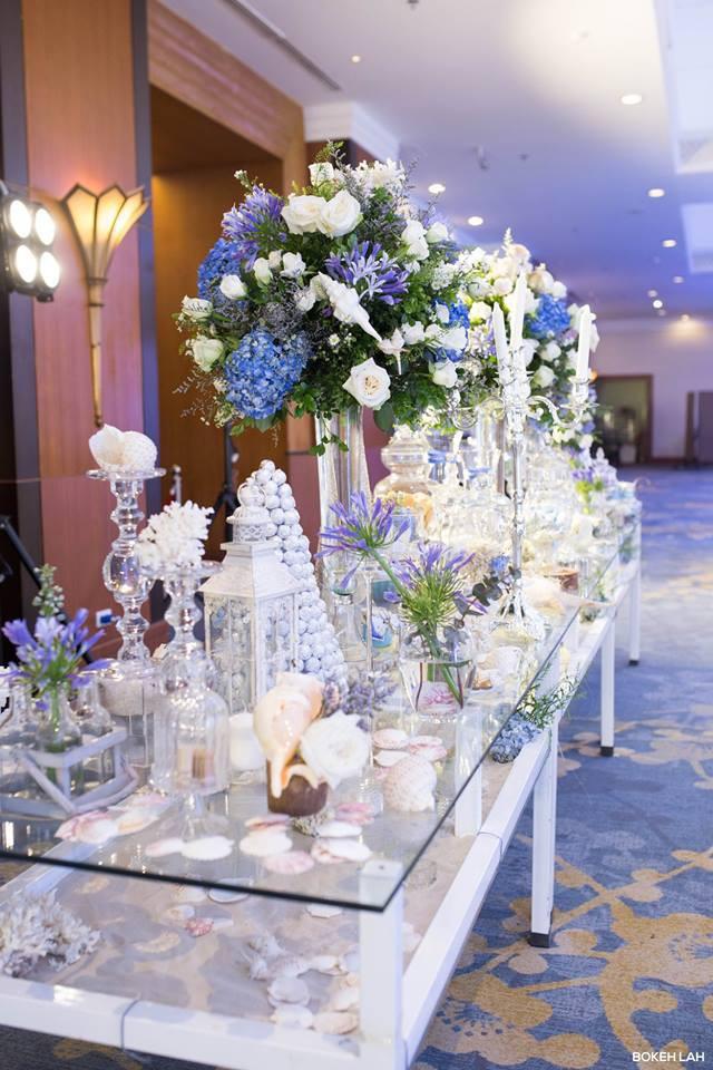 Cận cảnh đám cưới kỳ công xanh màu đại dương của Shark Hưng và cô dâu Á hậu - Ảnh 27.