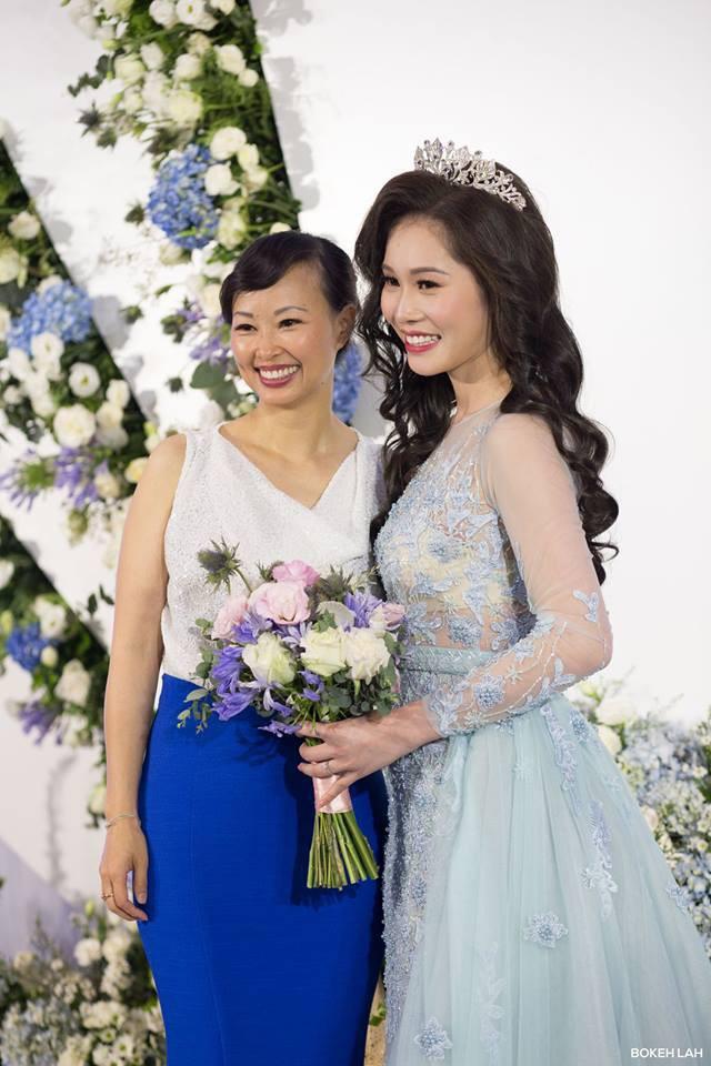 Cận cảnh đám cưới kỳ công xanh màu đại dương của Shark Hưng và cô dâu Á hậu - Ảnh 10.