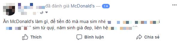 Sau bê bối đuổi khách, McDonalds nhận cơn mưa gạch đá từ netizen Việt Nam, có người còn tranh thủ phẫn nộ để bán sim - Ảnh 9.