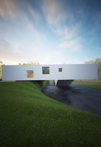 Ngôi nhà nằm trên dốc khiến ai nhìn thấy cũng phải trầm trồ - Ảnh 1.