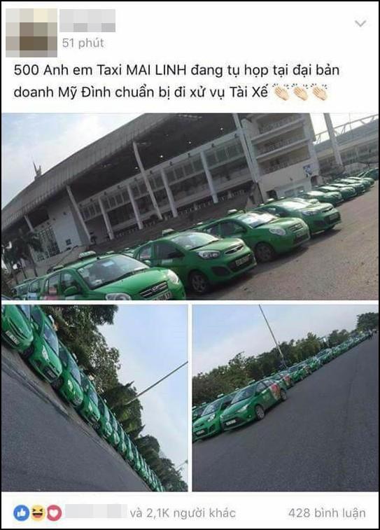 Hãng taxi lên tiếng về thông tin 500 anh em taxi Mai Linh đang tụ họp tại đại bản doanh Mỹ Đình chuẩn bị đi xử vụ tài xế - Ảnh 1.