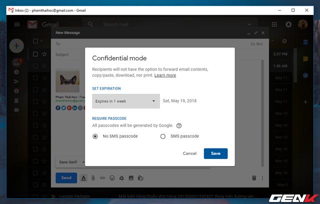 Đã có thể sử dụng tính năng gửi email bí mật trong Gmail, và đây là cách sử dụng - Ảnh 5.