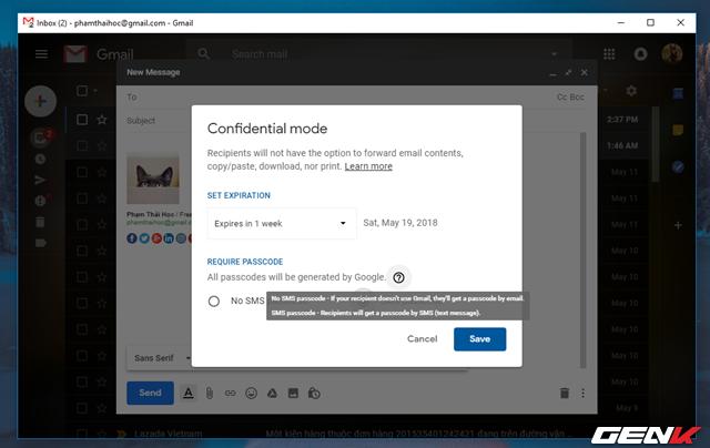 Đã có thể sử dụng tính năng gửi email bí mật trong Gmail, và đây là cách sử dụng - Ảnh 7.