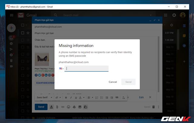 Đã có thể sử dụng tính năng gửi email bí mật trong Gmail, và đây là cách sử dụng - Ảnh 9.