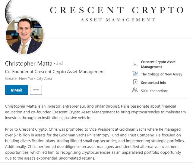 Chàng trai bỏ ghế Phó chủ tịch Goldman Sachs để dấn thân vào tiền mật mã - Ảnh 1.