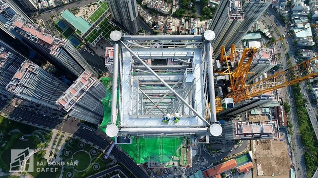 Cận cảnh công trường thi công đỉnh tòa nhà cao nhất Việt Nam, dự kiến khai trương vào quý 4 1