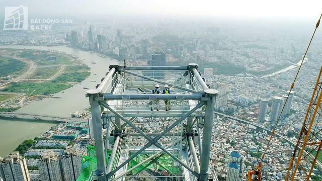 Cận cảnh công trường thi công đỉnh tòa nhà cao nhất Việt Nam, dự kiến khai trương vào quý 4 3