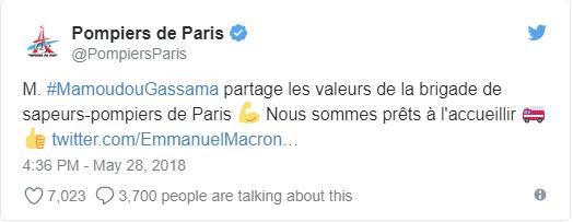 Được nhập quốc tịch Pháp sau khi không sợ nguy hiểm tay không leo 4 tầng nhà trong 10 giây giải cứu 1 em bé sắp rơi  - Ảnh 4.