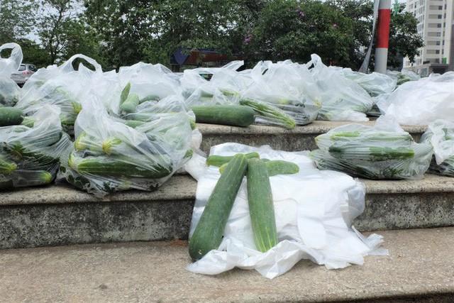 Hàng trăm kg dưa chuột đổ mồ hôi trong nắng nóng Hà Nội chờ được giải cứu - Ảnh 4.