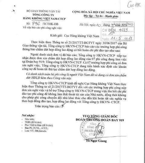 Sau khi tố cáo bị áp bức, thêm hàng chục phi công của Vietnam Airlines xin nghỉ việc - Ảnh 4.