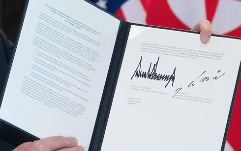 Toàn văn tuyên bố chung lịch sử Tổng thống Mỹ và Lãnh đạo Triều Tiên - Ảnh 2.
