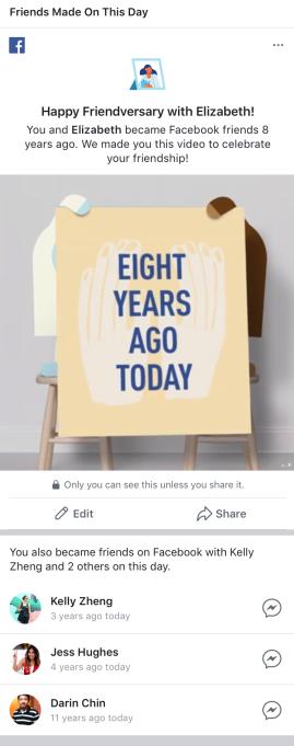 Facebook ra mắt tính năng Memories để cho người dùng lội dòng kí ức - Ảnh 1.