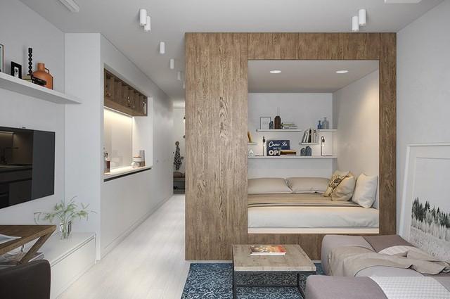 Căn hộ 30 m2 sử dụng nội thất sáng tạo - Ảnh 3.