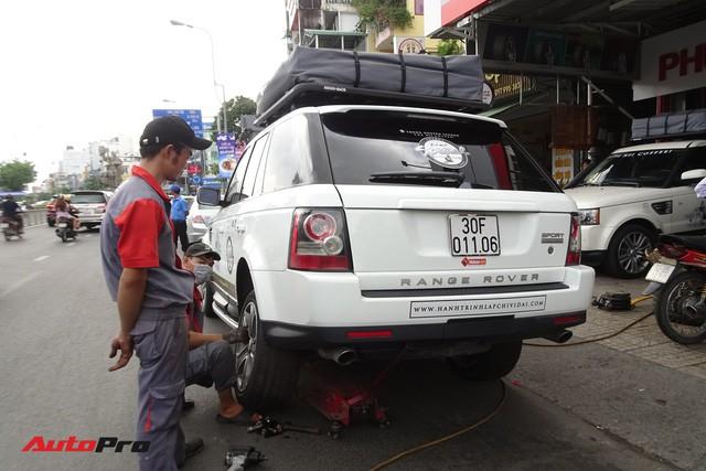 Bộ 3 Range Rover Sport Supercharged của ông chủ Trung Nguyên được chăm sóc trước hành trình siêu xe đình đám - Ảnh 1.