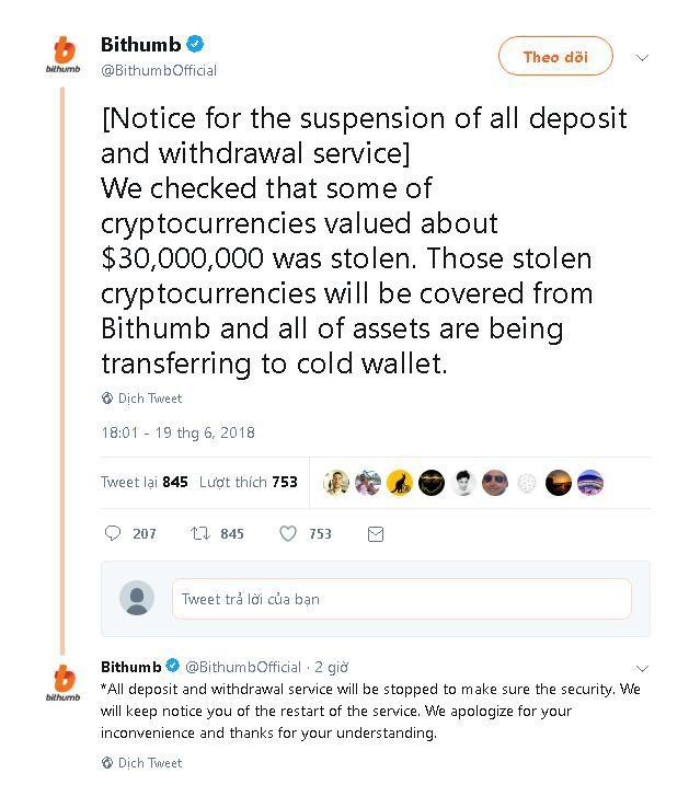 đầu tư giá trị - photo 1 15294800018031579778753 - Sàn giao dịch tiền mã hóa lớn nhất Hàn Quốc – Bithumb bị hacker đánh cắp hơn 30 triệu USD