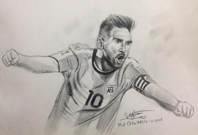 Họa sĩ tiên tri World Cup 2018 trên MXH: Cứ vẽ chân dung ngôi sao đội nào là đội ấy hoà hoặc thua - Ảnh 1.