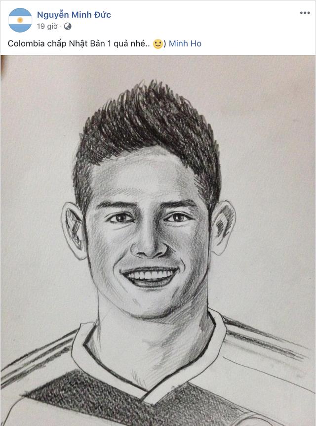Họa sĩ tiên tri World Cup 2018 trên MXH: Cứ vẽ chân dung ngôi sao đội nào là đội ấy hoà hoặc thua - Ảnh 4.