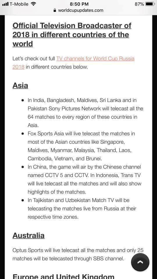 Fox Sports không có bản quyền phát sóng World Cup 2018 ở Việt Nam - Ảnh 1.
