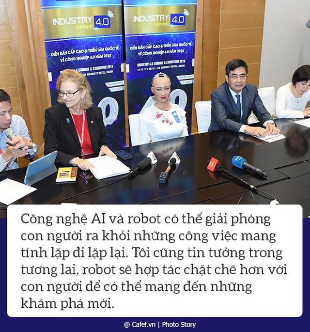 Robot Sophia nói gì về cách mạng công nghiệp 4.0 tại Việt Nam? - Ảnh 5.