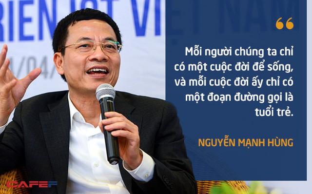 10 phát ngôn truyền cảm hứng của ông Nguyễn Mạnh Hùng dành cho giới trẻ - Ảnh 1.