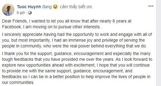 Ông Huỳnh Kim Tước bất ngờ rời Facebook - Ảnh 1.