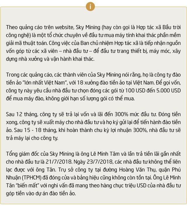 """""""Dự án đào tiền ảo lớn nhất Việt Nam"""": Giải mã vụ chạy trốn của CEO Sky Mining Lê Minh Tâm - Ảnh 9."""