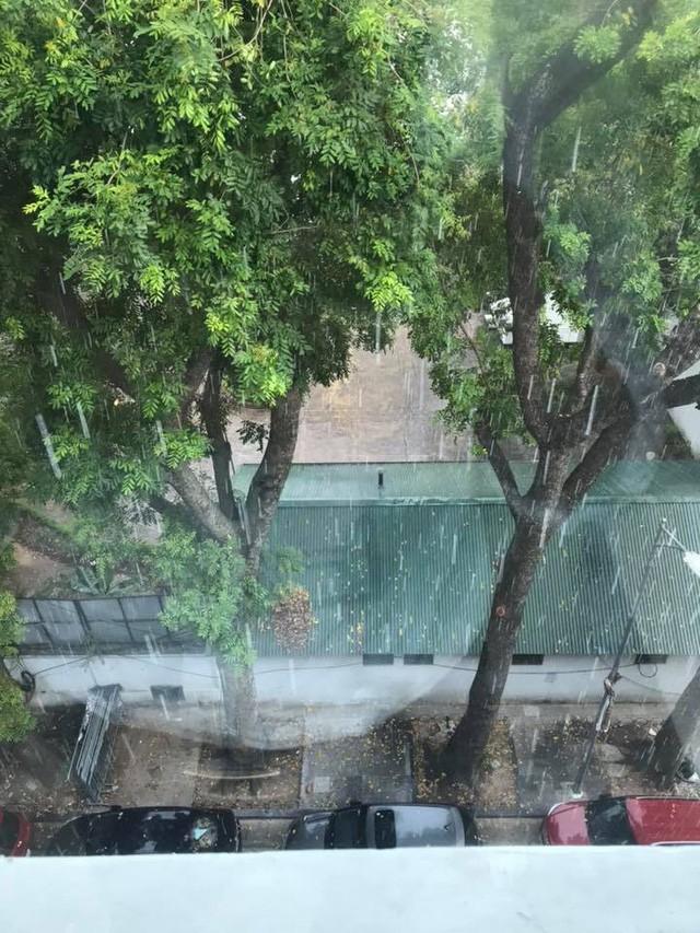 Thủ đô Hà Nội đón cơn mưa giải nhiệt đầu tiên sau những ngày nắng bỏng da rát thịt - Ảnh 6.