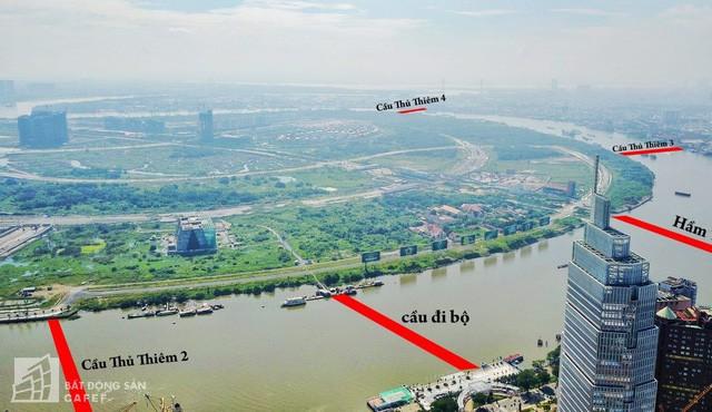 Toàn cảnh dự án cầu Thủ Thiêm 2 đang xây dựng nối khu trung tâm Quận 1 với KĐT Thủ Thiêm - Ảnh 1.
