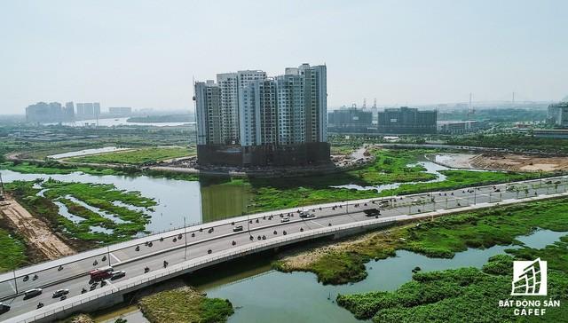 Toàn cảnh dự án cầu Thủ Thiêm 2 đang xây dựng nối khu trung tâm Quận 1 với KĐT Thủ Thiêm - Ảnh 13.