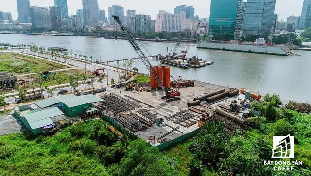 Toàn cảnh dự án cầu Thủ Thiêm 2 đang xây dựng nối khu trung tâm Quận 1 với KĐT Thủ Thiêm - Ảnh 8.