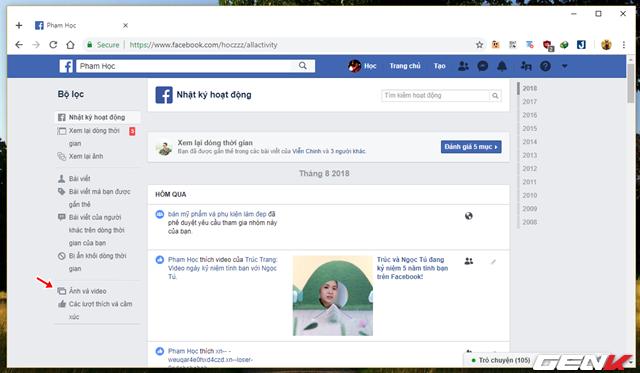 đầu tư giá trị - photo 8 1534054650909173265667 - Những cách giúp xóa nhanh và triệt để tất cả hình ảnh và status đã đăng trên Facebook mà không sợ mất tài khoản
