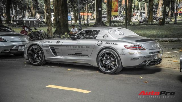 Sau hành trình xuyên Việt, bộ 3 siêu xe hãng xe hãng xe Mercedes SLS AMG độc đáo của ông chủ cà phê Trung Nguyên lại tham dự minishow ở Sài Gòn - Ảnh 3.
