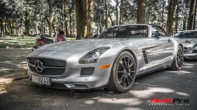 Sau hành trình xuyên Việt, bộ 3 siêu xe hãng xe hãng xe Mercedes SLS AMG độc đáo của ông chủ cà phê Trung Nguyên lại tham dự minishow ở Sài Gòn - Ảnh 4.