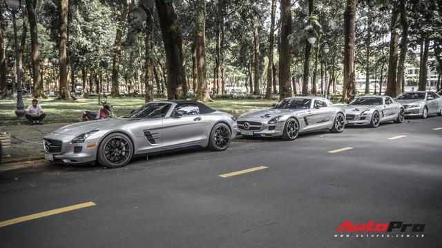 Sau hành trình xuyên Việt, bộ 3 siêu xe hãng xe hãng xe Mercedes SLS AMG độc đáo của ông chủ cà phê Trung Nguyên lại tham dự minishow ở Sài Gòn - Ảnh 6.