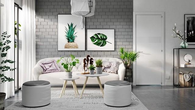 Căn hộ đẹp lạ được trang trí bằng hai màu sắc xám và trắng - Ảnh 1.
