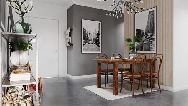 Căn hộ đẹp lạ được trang trí bằng hai màu sắc xám và trắng - Ảnh 6.