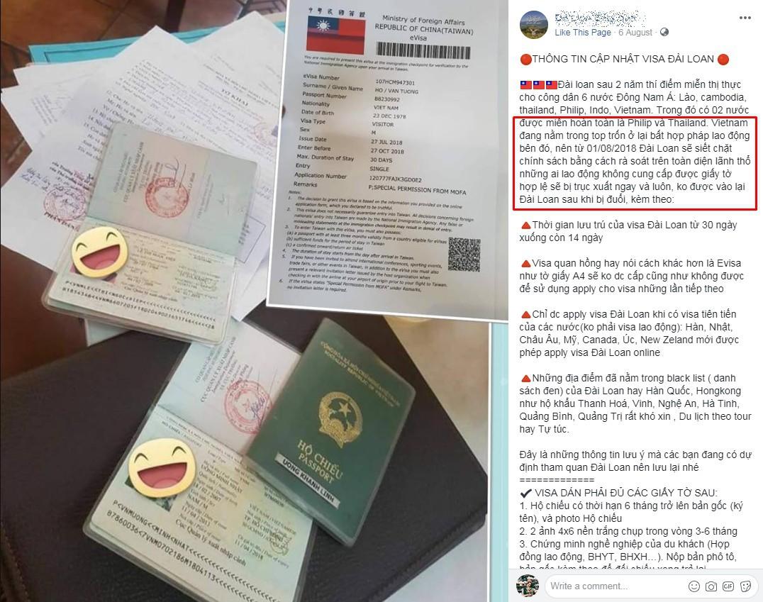 Đài Loan thắt chặt chính sách cấp visa đối với công dân Việt Nam: Dịch