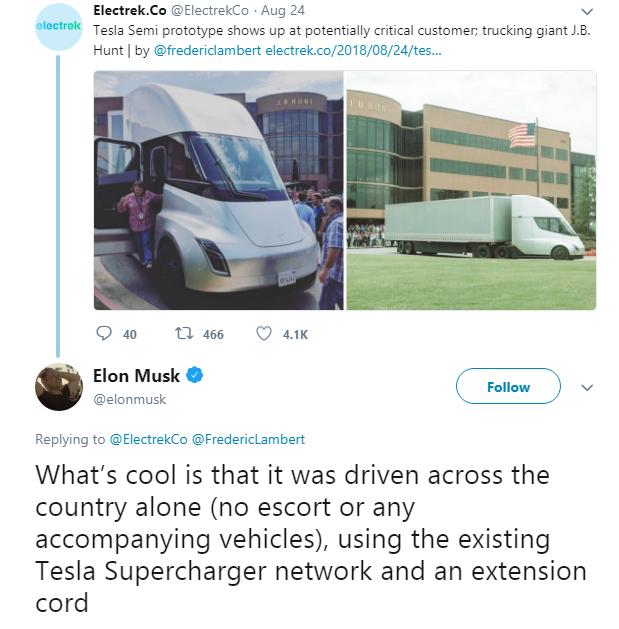 Elon Musk tự hào khoe xe tải của mình đã có thể tự lái đi vòng quanh nước Mỹ một mình - Ảnh 1.